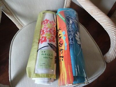 Beautiful Lot Of 2 Bolts Cotton Kimono Fabric With Original Packaging