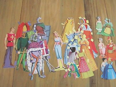 Vintage Sleeping Beauty Paper Doll Set, Disney 1960's