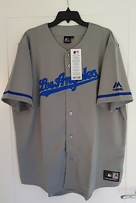 MAJESTIC LOS ANGELES DODGERS  MLB Official Baseball Jersey Shirt Authentic XS