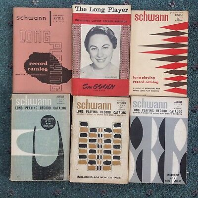 (50) 1953-1980 SCHWANN CATALOGS Long Playing Record TAPE Classical POPULAR