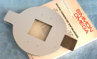 Omega Enlarger Negative Carrier 2 1/4 x 2 1/4 GLASS for B series
