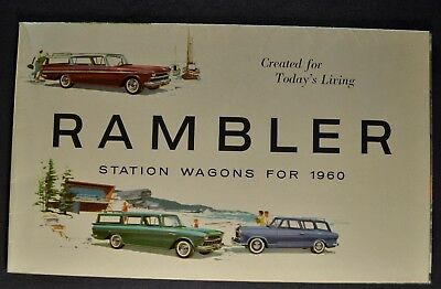 1960 Rambler Station Wagon Brochure Ambassador Cross Country Custom American 60