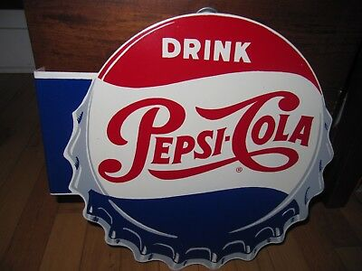 1950s Pepsi metal Stout co. Flange Sign