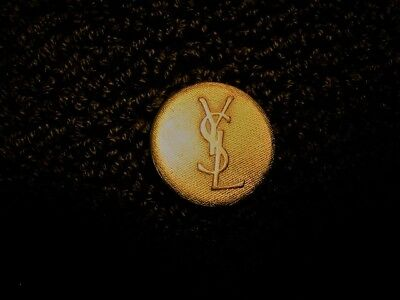 YSL New Set of 3 Large and 6 Small Textured Gold Logo Blazer Buttons Rare Unique