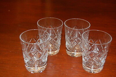 4x small cut crystal whiskey tumblers