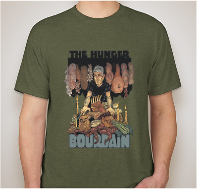 unisex 2X Anthony Bourdain 'The HUNGER' Tshirt GREEN
