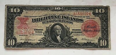 1912 Philippine Islands Ten Silver Pesos Certificate