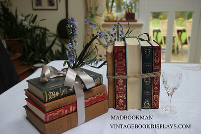 Job Lot of 40 Vintage Antique Books *Table displays, Weddings, Shops, Bookshelfs