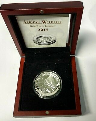 2015 African Wildlife commemorative coin with COA and window top