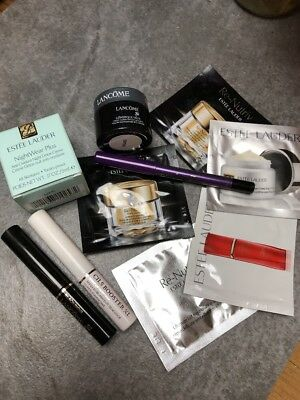 Lancome ~ Estee Lauder Lot Of 10 ~ Deluxe Travel Samples