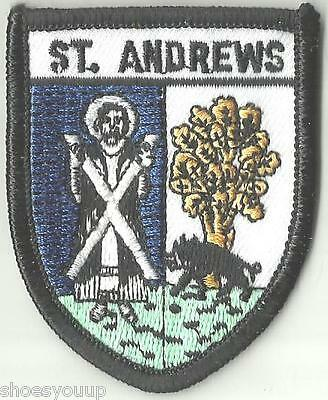 St Andrews Scotland Crest Flag World Embroidered Patch Badge