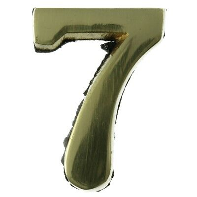 Small 32 mm Solid Brass Number 7 Self Adhesive
