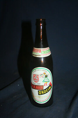 Vintage Collectible O.K. Beer Glass Bottle Okocim