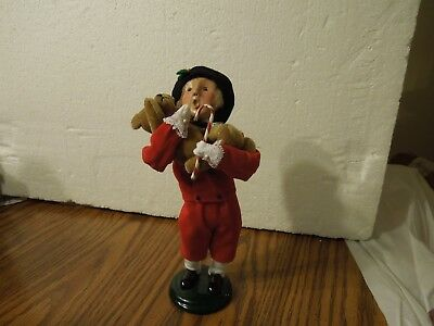 "Byers' Choice 2000 Boy with Toys signed 9 1/4"" tall"