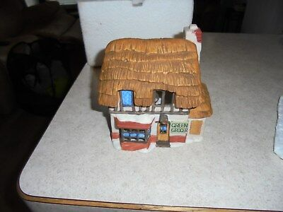 dept 56 1984 green grocer building with box retired 1988