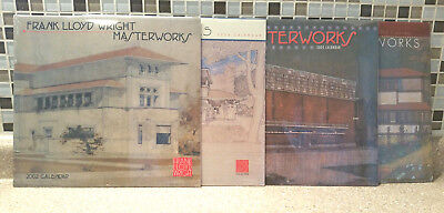 Lot 4 Frank Lloyd Wright Masterworks Calendars 2002, 2004, 2005, 2006 Design!