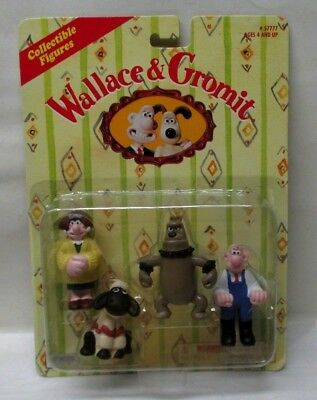 1989 Wallace & Gromit Collectible Figures 4 Figure Set Sealed in Package - EX