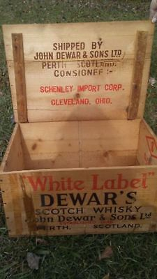 Vintage shipping crate wood box/ storage / antiques/ tables