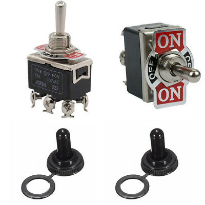 2 x Waterproof boot cap DPDT momentary Toggle Switch ON/OFF/ON Amp US Shipping