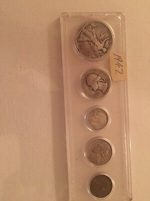 1947 Silver Lot Coins