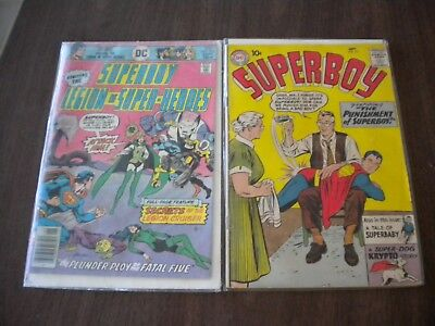 Vintage Lot of 2 Superboy Comics Sept 1959 No.75 & No. 219 collectors
