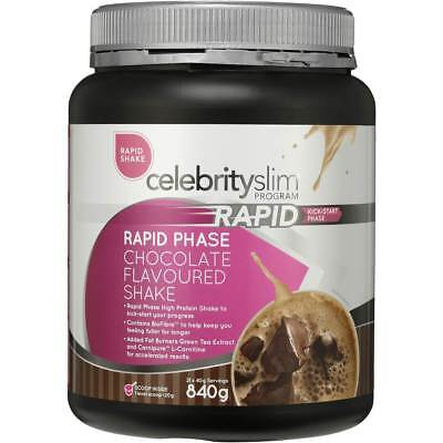 Celebrity Slim Rapid Program Weight Loss Shake Chocolate 840g Free Post $32.95
