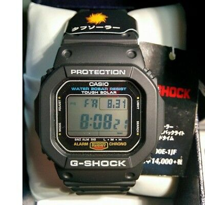 Casio G-SHOCK G-5600E-1JF Digital Chrono Watch Tough Solar in box with Tags