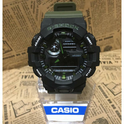 Casio G-Shock GA-700 Ana Digi World Time Watch Mens For sale New Moss green