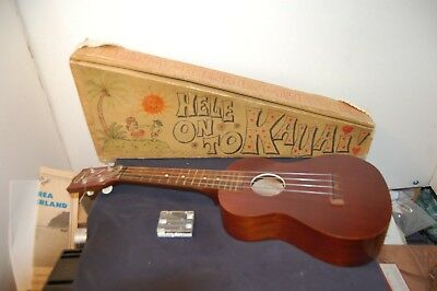 vintage Aloha Ukulele with hand decorated case and accessories no reserve wow!!