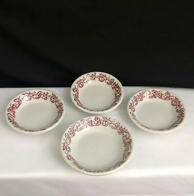 Vintage Caribe China Restaurant Ware Red Swags Side Fruit Bowls Puerto Rico USA