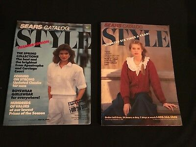 1989 SEARS Style Premier Edition and Volume 4 Catalog