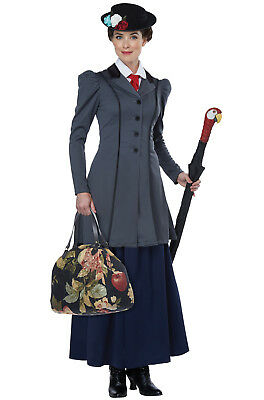 Brand New English Nanny Mary Poppins Inspired Adult Costume