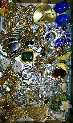 Huge Vintage & Now Jewelry Lot Estate Find Junk Drawer UNSEARCHED UNTESTED#cross