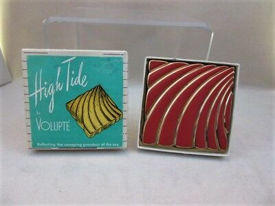 Vintage Volupte High Tide Compact with Box - Book Piece