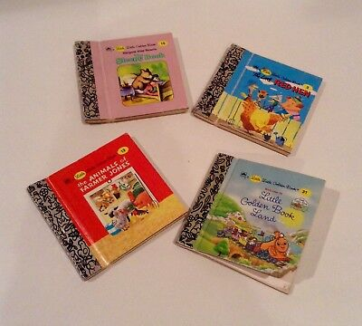 Miniature Little Golden Books Collection Set of 4