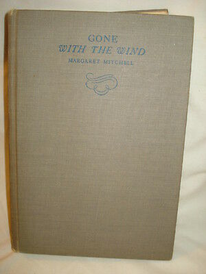 Vintage 1936  Gone with the Wind By MARGARET MITCHELL - Hardcover w/News Article