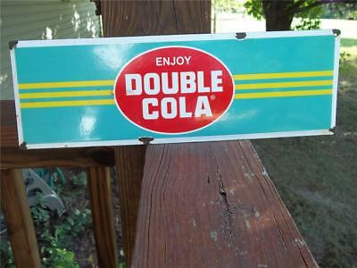 Porcelain Sign Enjoy Double Cola Soda Advertising Store Sign Display