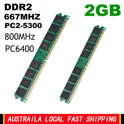 2GB Memory RAM DDR2 800MHz/667MHz PC6400 PC2-5300 DIMM 240pins For AMD/INTEL Lot