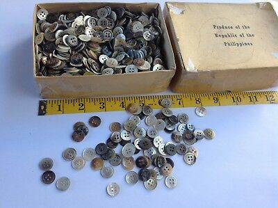 Vintage LOT of SHELL BUTTONS Multi Colors Mother-of-Pearl NOS NEW w/ 1500+ PCS.