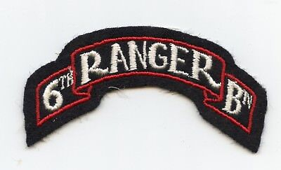 6th Ranger Battalion Scroll Patch WWII US Army