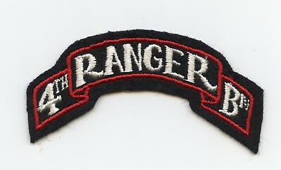 4th Ranger Battalion Scroll Patch WWII US Army