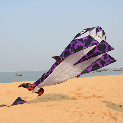 Outdoor Sports Toy 2.1M 3D cute Cartoon whale Kite For Adult Kids Easy To Fly HC