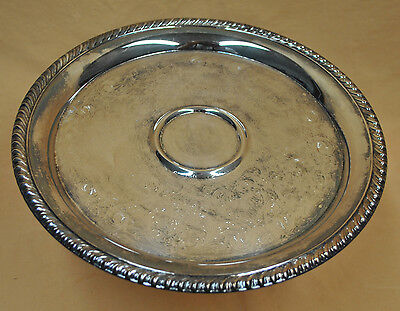 Vintage Large WM Rogers Metal Silver Plate Serving Tray Platter