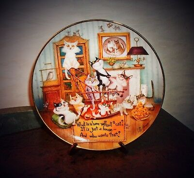 Comforts of Home Dmitry and Olga Cat Collector Plate Danbury Mint