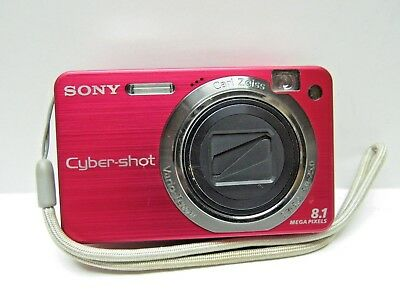 Sony Cyber-shot DSC-W150 8.1MP Digital Camera - Red with carrying case