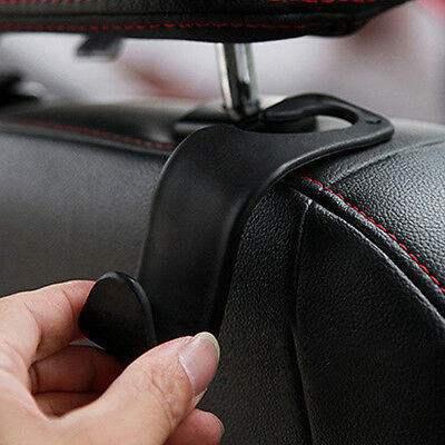 1pc Car Headrest Seat Luggage Purse Bag Hanger Hook Holder Organizer Black NEW