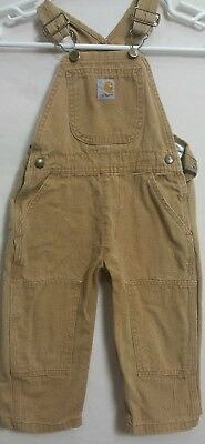 Carhartt Toddler's Brown Jumpsuit Coveralls Sz 2T(#b2)