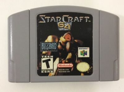For Nintendo N64 Game Starcraft 64 Video Game Cartridge Console Card US version