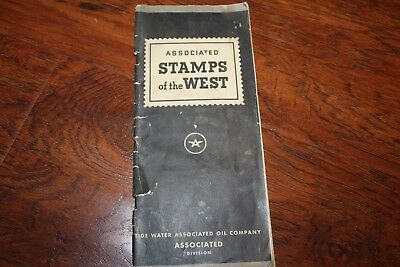 Associated Tide Water Oil Co. Stamps of the West 1 Through 100 in Album Book Lot
