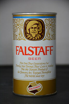 Falstaff Beer pull-tab can, Falstaff Brewing, St. Louis *RARE TEST CAN*